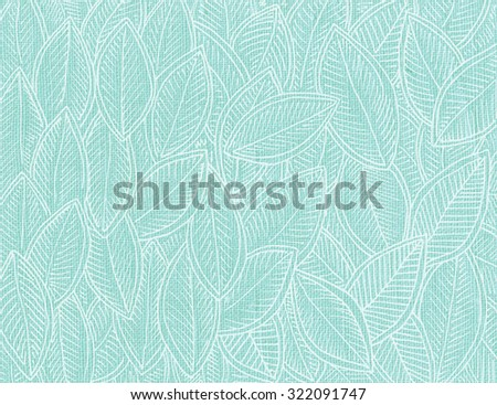 autumn leaves turquoise facture pattern - stock photo