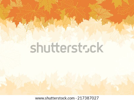 Autumn maple leaves. Abstract background  with many red and yellow maple leaves at retro style - stock photo