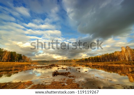 autumn nature - stock photo