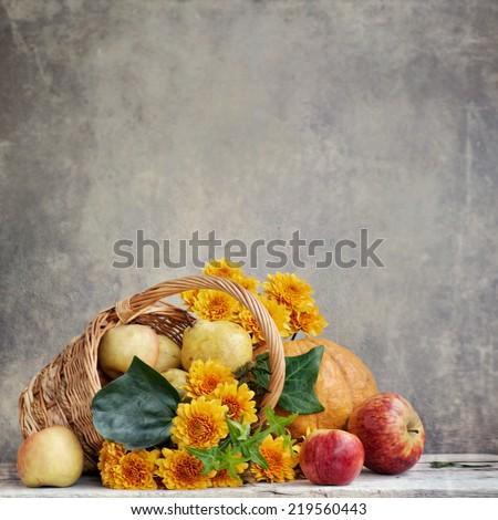 Autumn nature concept - stock photo
