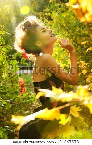 Autumn nymph - stock photo