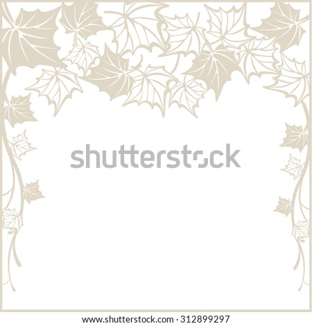 Autumn pattern, with maple leaves. Fall design background. raster version - stock photo