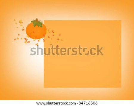 Autumn Pumpkin - stock photo