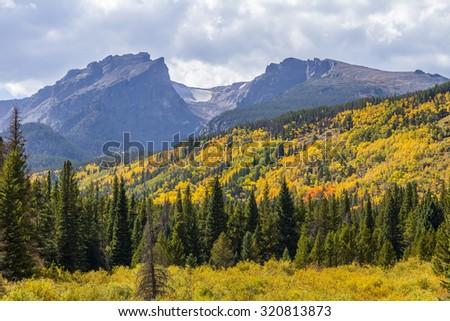 Autumn Rocky Mountain National Park - stock photo