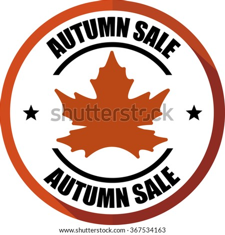 Autumn sale, Button, label and sign. - stock photo