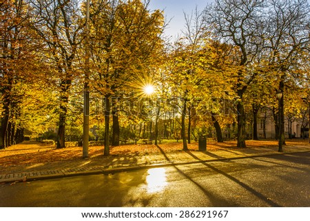 Autumn season in Oslo, Norway - stock photo