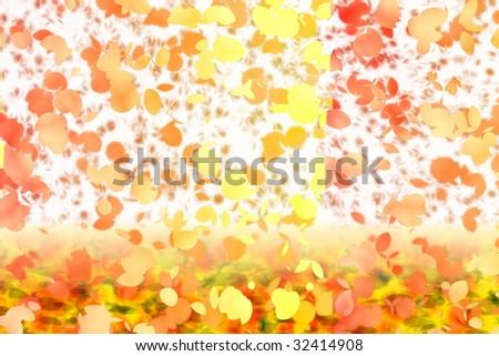 autumn season inspired floral artwork - stock photo