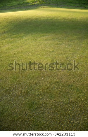 Autumn version of the grass in a field to play golf - stock photo