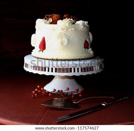 Autumn Wedding Cake - stock photo