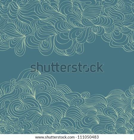 Autumnal bright leaf seamless raster version - stock photo