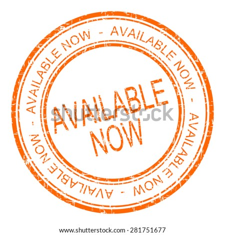 available now rubber stamp - stock photo