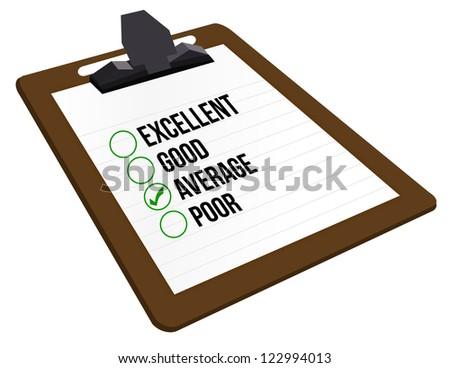 average customer rating illustration design over a white background - stock photo