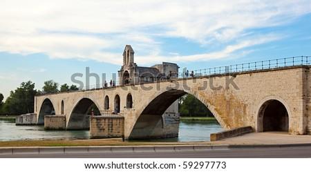Avignon bridge - stock photo
