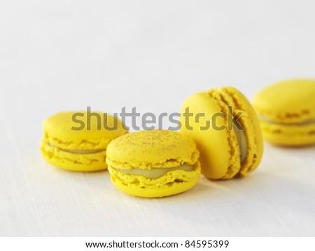 Avocado,banana and chocolate macaroons - stock photo