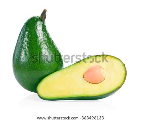 Avocado isolated on a white background - stock photo