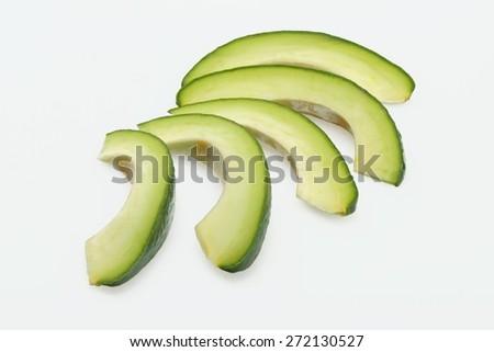 Avocado, Portion, Isolated. - stock photo
