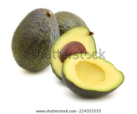 Avocados on a white background  - stock photo
