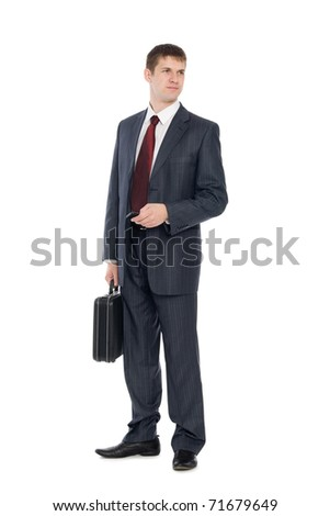 Awaiting a handsome young businessman with a mobile phone. - stock photo