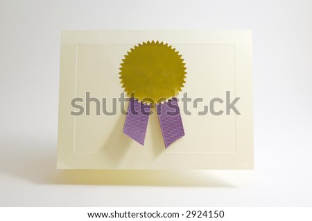 Award card with copy space - stock photo