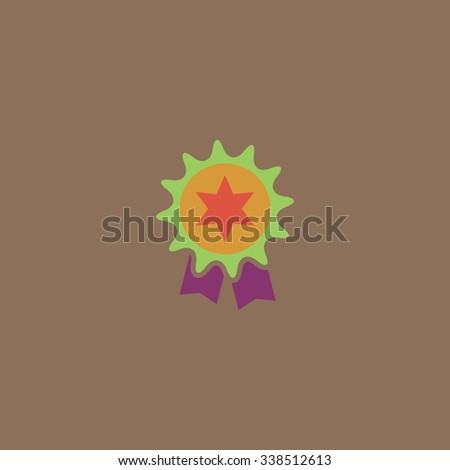 Award. Colored simple icon. Flat retro color modern illustration symbol - stock photo