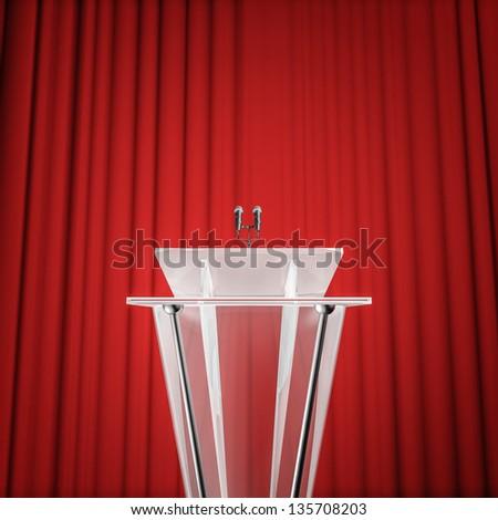 Award press conference - stock photo