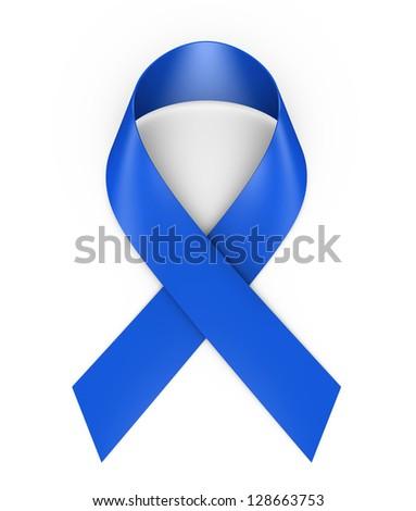awareness blue ribbon - stock photo