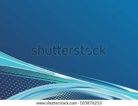 awesome abstract blue background - stock photo