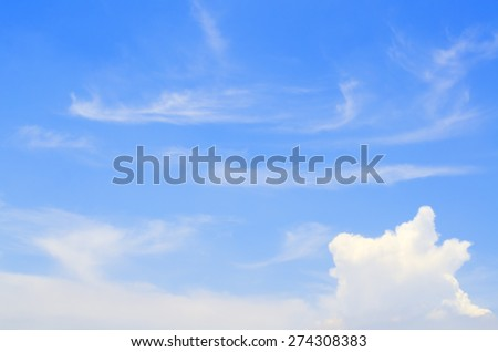 Awesome Bright Blue Sky Partly Cloudy Best Ozone - Texture Background - stock photo