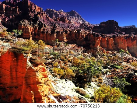 Awesome canyon - stock photo