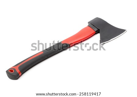 ax on the white background - stock photo