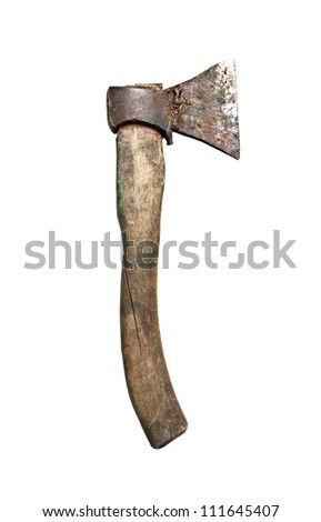 Axe, isolated on a white background - stock photo