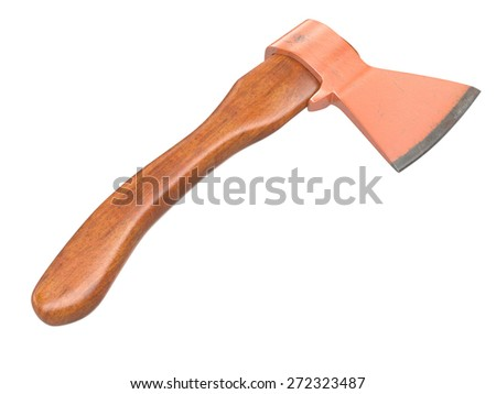 Axe on white background. 3D image - stock photo