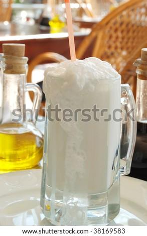 ayran with bubbly - stock photo