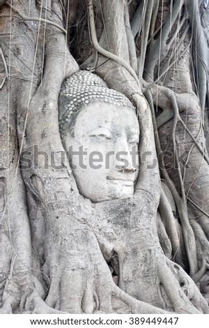 Ayutthaya - temple in Thailand - stock photo
