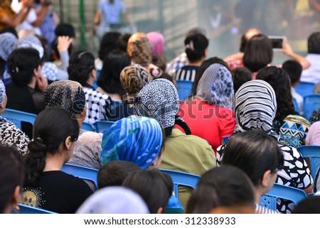 Azerbaijan women with scarves - stock photo
