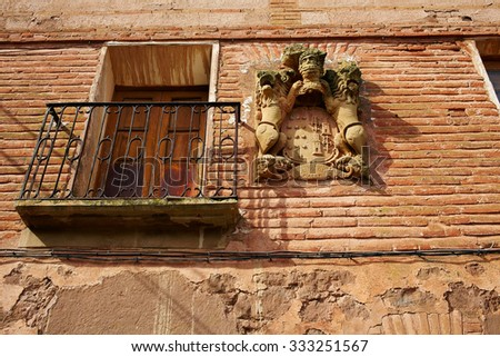 Azofra in Saint James Way at La Rioja of Spain - stock photo