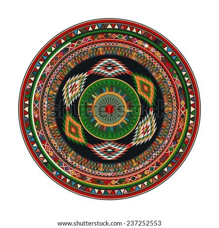 Aztec mandala - stock photo