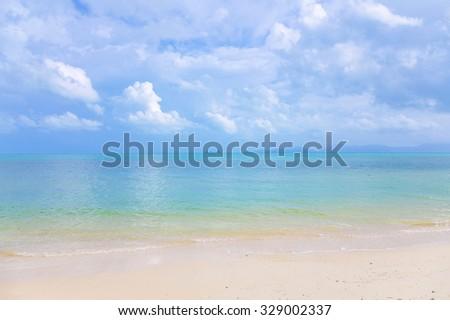 Azure sea of Thailand.  - stock photo