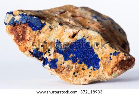 Azurite mineral - stock photo