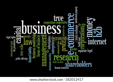 B2B Business to  business - Word Cloud - stock photo