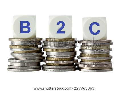 B2C - Business to Consumer - stock photo