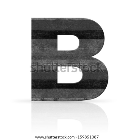b letter white wood texture - stock photo
