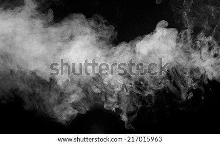 B&w abstract smoke on a dark background - stock photo