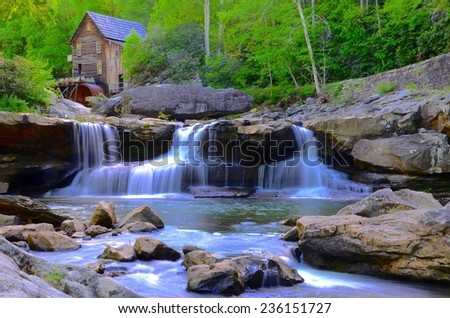 Babcock State National Park in West Virginia, USA - stock photo