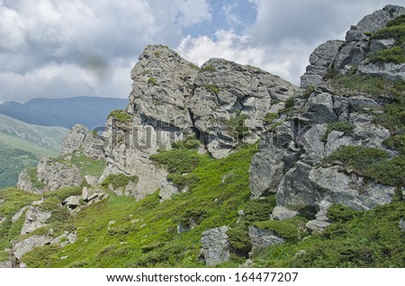Babin zub - Stara planina, Serbia. Babin zub is a peak in the Stara Planina mountain massif in the south-eastern Serbia. - stock photo