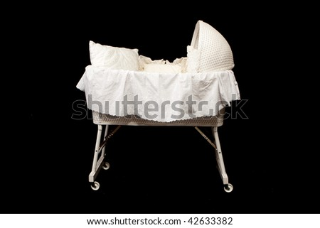 Baby Bassinet - stock photo