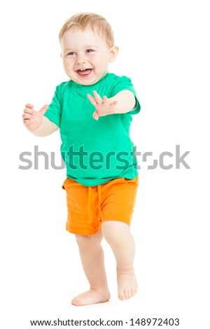 baby boy isolated. - stock photo
