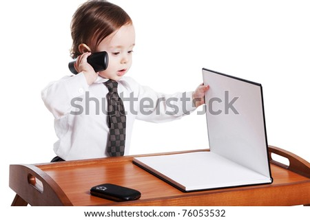Baby businessman - stock photo