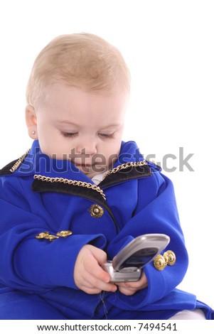 baby calling sales team - stock photo