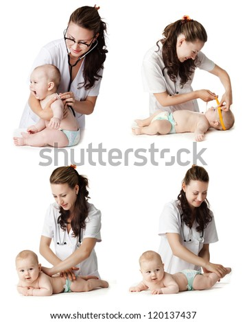 baby care . - stock photo